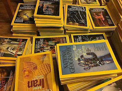 National geographic magazines 1970 -2011