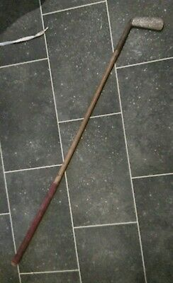 An Antique Hickory Shaft Sheffield Forged No.15 Golf Putter