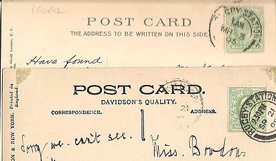 1905-09 cards with diff. d/r Rugby.Station