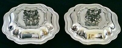 Collectable WALKER AND HALL vintage silver plated serving entrée dishes