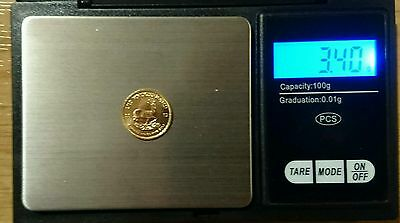 2012 uncirculated 'MINT' 1/10 South African Krugerrand Gold Bullion Coin