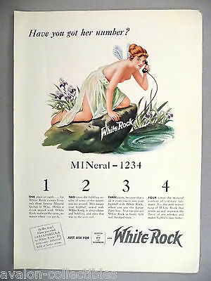 White Rock Mineral Water PRINT AD - 1940