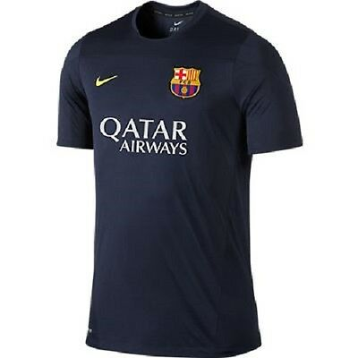 Nike Youth Barcelona Training 2013-2014 Top Authentic New Navy 544993-411