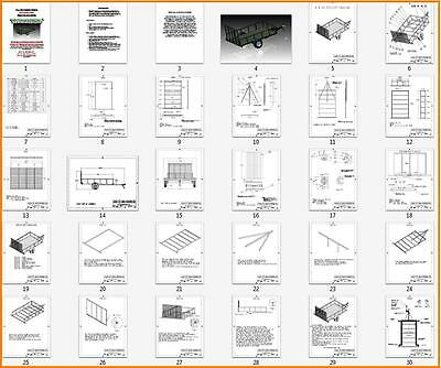 6 X 10  Utility / Landscape Trailer Plans - Step By Step -  Easy To Build