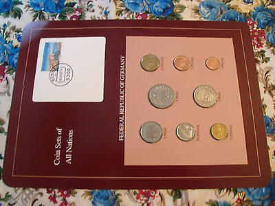 Coin sets of all nations Germany 1986 - 1988 UNC  5 Mark 1988