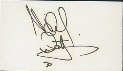MICHAEL WALTRIP - AUTOGRAPHED INDEX CARD NASCAR DRIVER w/ ICEBOX LOA