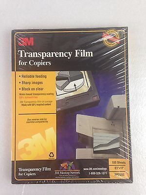 NEW 3M Transparency Film PP2500 for High Temperature Copiers 100 Sheets 8.5 x 11