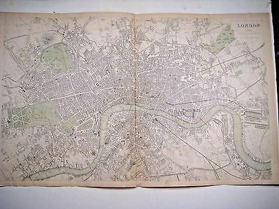 1843 SDUK: Map/ Plan of London - double-page