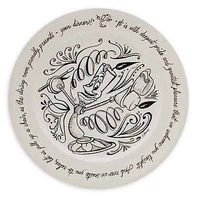Disney Parks Beauty & the Beast Be Our Quest 1 Dinner Plate 2 Dessert Plates New