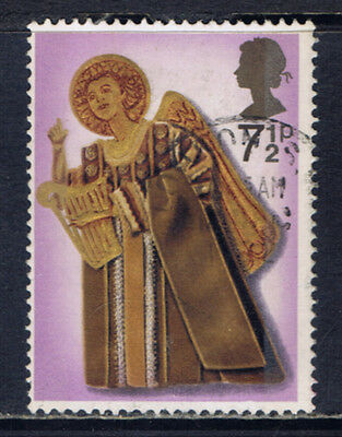 Great Britain #682(2) 1972 7.5 pence CHRISTMAS - ANGEL WITH HARP Used