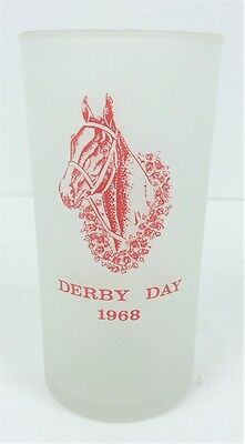Kentucky Derby 1968 Frosted Glass