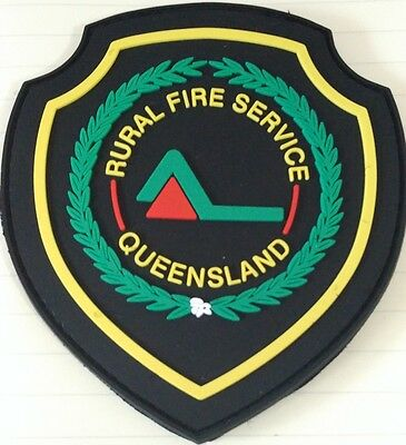 Rural Fire Service Queensland rubber patch Not Police Emergency Rescue Ambulance