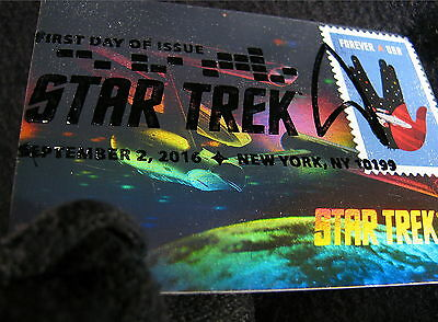 Star Trek TOS 50th Anniversa Stamp 50 Years Holographic FDC First Day Issue 7-BL