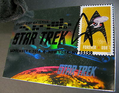 Star Trek TOS 50th Anniversa Stamp 50 Years Holographic FDC First Day Issue 7-YL
