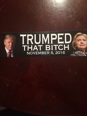 Trumped That Bitch Stickers Trump Anti Hillary 11.08.16 Usa