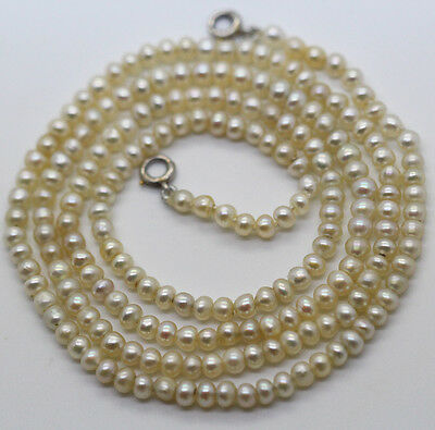 """Antique vintage GIA certified Natural Pearl Necklace 26"""" long France (#5943)"""