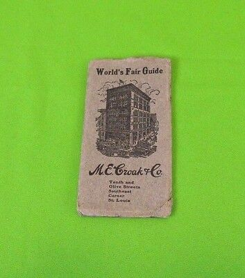 1904 St Louis World's Fair Guide and Fold-Out Map Advertising Booklet