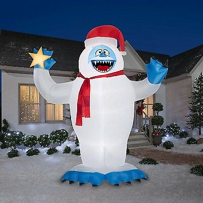 Christmas Inflatable Giant Led 12' Bumble The Abominable Snow Monster By Gemmy