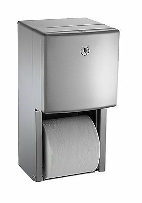 ASI 0030 Surface Mounted Twin Hide-A-Roll Toilet Tissue Dispenser NEW American