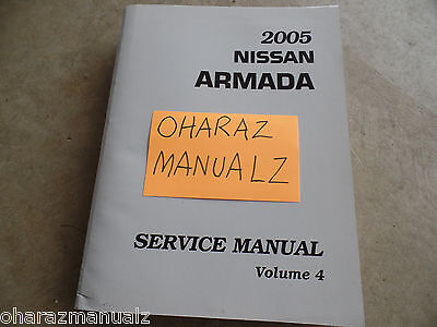 2005 Nissan Armada Service Manual Volume 4 only! See Pic for Services Included!