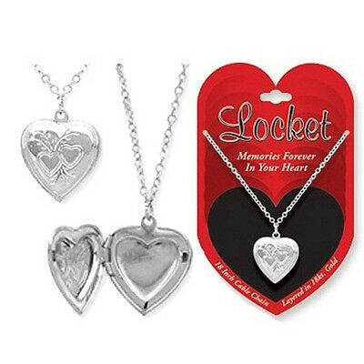 Assorted Styles Sterling Silver Layered Heart Locket Necklace Kids Pendant