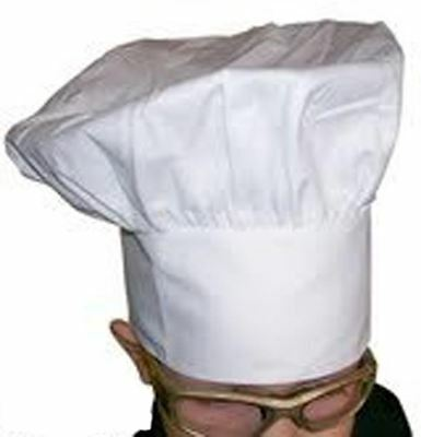 Big & Tall 2X Xxl Chef Hat Baker Cook  Fully Adjustable Velcro Closure