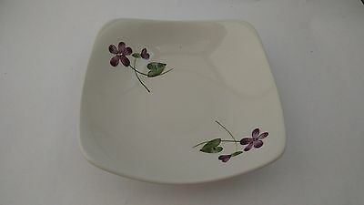 """California Pottery Orchard Ware Violets 6 1/8"""" Cereal Bowl"""