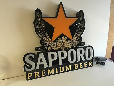 "Sapporo Premium Beer LED Sign Opti Neon ~ L.E.D. NEW in BOX ~ 22.5"" X 20.5"" 2016"