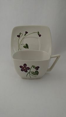 California Pottery Orchard Ware Violets Cup & Saucer (s)