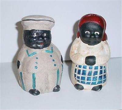 Mr. & Mrs. Cheif Dime Cast Iron Banks