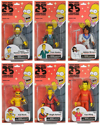 """Neca Simpsons 25th Anniversary S1 - Greatest Guest Stars (Set of 6) 5"""" Figures"""