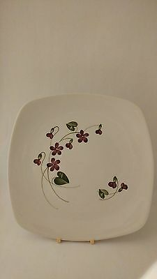 """California Pottery Orchard Ware Violets 10"""" Dinner Plate (s)"""