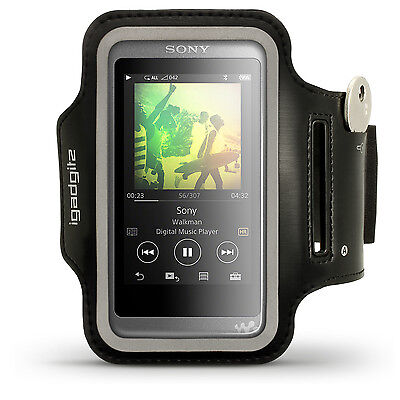 Black Running Jogging Sports Armband for Sony Walkman NW-A35 MP3 Fitness Gym