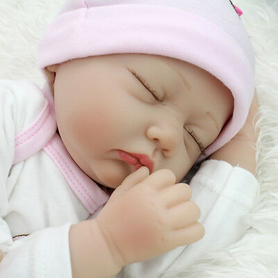 Realistic Lifelike Newborn Sleeping Baby Girl Doll Floppy Head Reborn Baby Doll