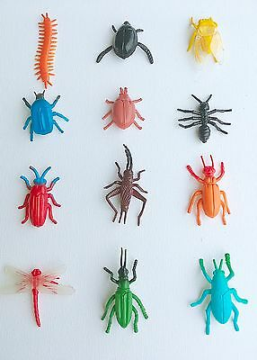 12 Small Insect and Bug Toys Bug Figures Plastic Animal Toy Kids Favor Gifts