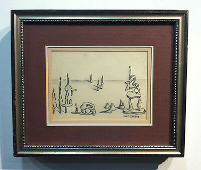 Small Yves Tanguy Drawing - framed A