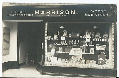 Unidentified Unknown Harrison Shop Front Chemists Drugs Medicine Photographic RP