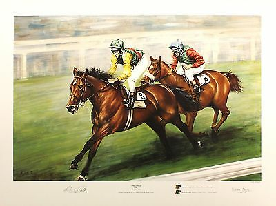 "PERRY ""Triple"" nijinsky SIGNED by LESTER PIGGOTT ltd ed SIZE:54cm x 70cm NEW"