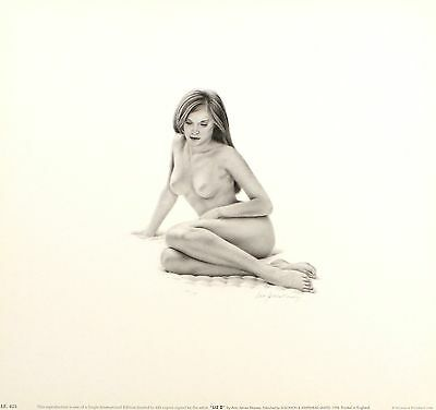 "ANN JAMES MASSEY ""Liz II"" nude woman SIGNED ltd ed! SIZE:35cm x 37cm NEW RARE"