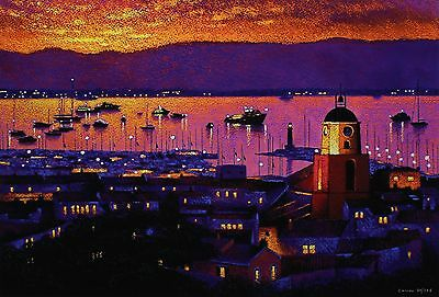 "MICHAEL LAWES ""Bay of St Tropez"" riviera SIGNED LIM ED! SIZE:45cm x 64cm NEW"