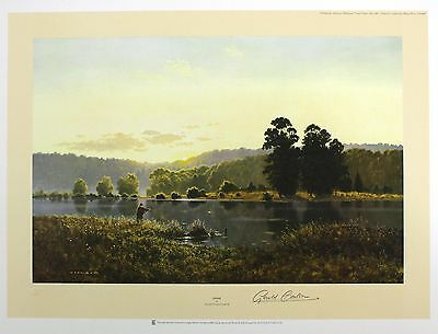 "GERALD COULSON ""Dawn"" fishing lake country LE SIGNED! SIZE:51cm x 68cm NEW RARE"