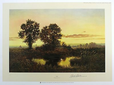 "GERALD COULSON ""Dusk"" countryside pond LIM ED SIGNED! SIZE:51cm x 68cm NEW RARE"