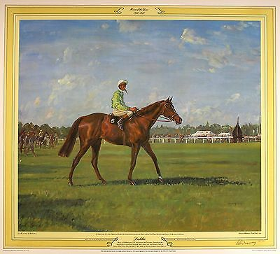 "KEITH MONEY ""Dahlia"" lester piggott gold cup LE SIGNED! SIZE:61cm x 68cm NEW"