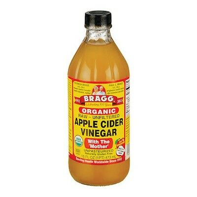 2 X Bragg Apple Cider Vinegar Organic 473mL with The Mother, Raw & Unfiltered
