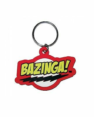 The Big Bang Theory Keyring Keychain Bazinga new Official Rubber One Size