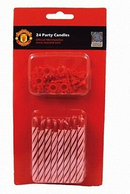 New Manchester United Football Game Birthday Party Candles x 24 »