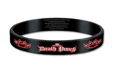 Five Finger Death Punch band Wristband band Logo knuckles Official 10mm Rubber