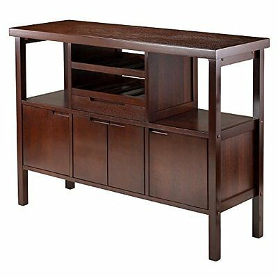Winsome Diego Buffet/Sideboard Table Brown, New