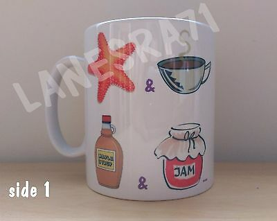 PRINCE : Starfish and Coffee song UNIQUE ART DESIGN White Coffee Mug *NEW*