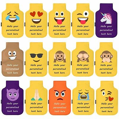 Personalised Emoji Hot Water Bottle Cover with Free Bottle by Happy Snap Gifts®